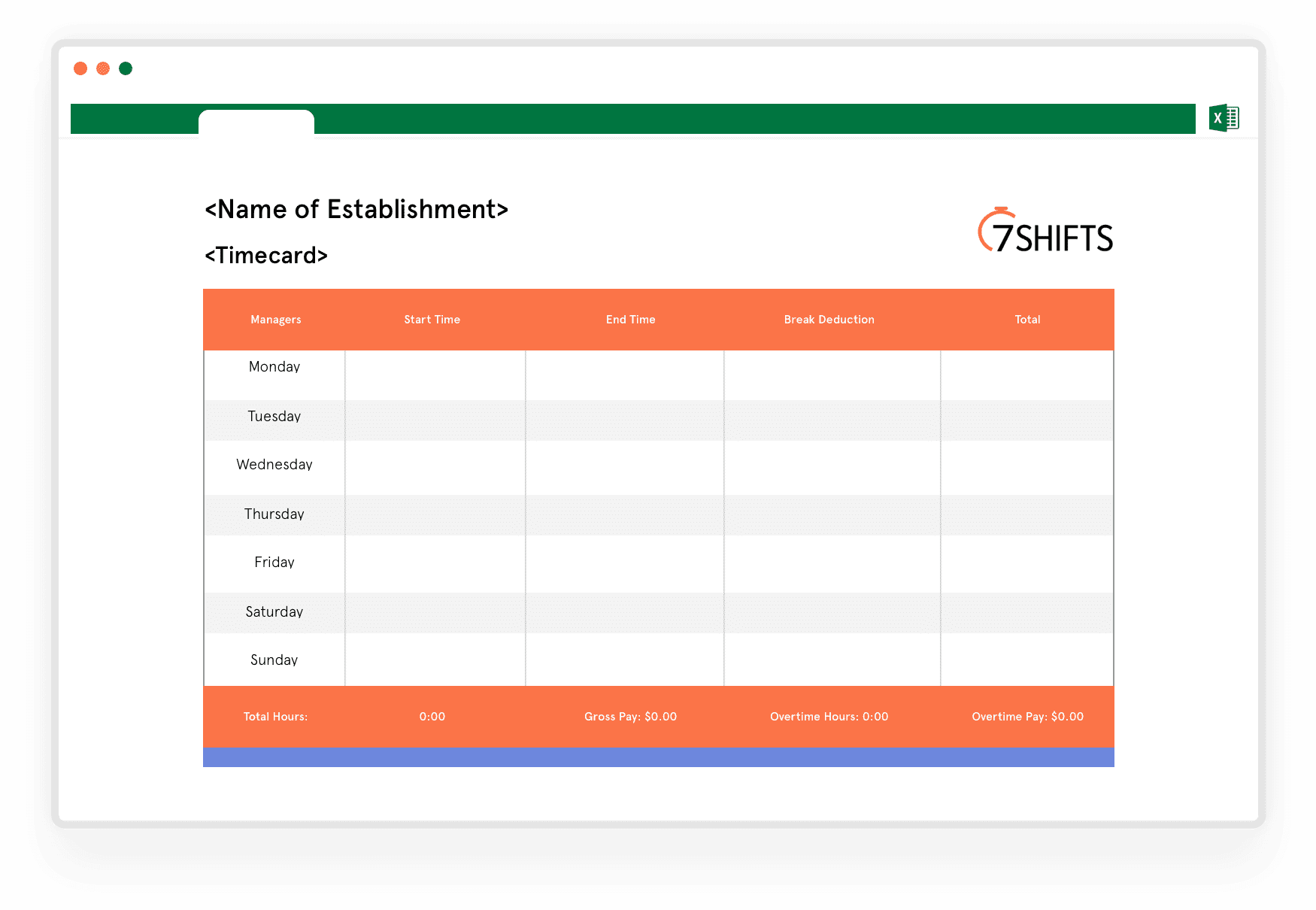 Download Free Timecard Calculator Excel Template 7shifts 7shifts