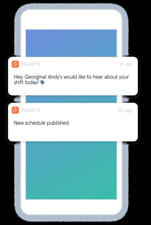staff scheduling notifications