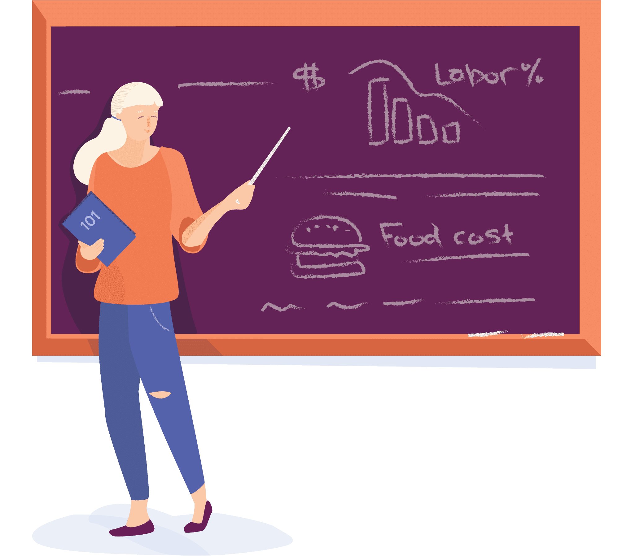 Restaurant employee scheduling web app illustration