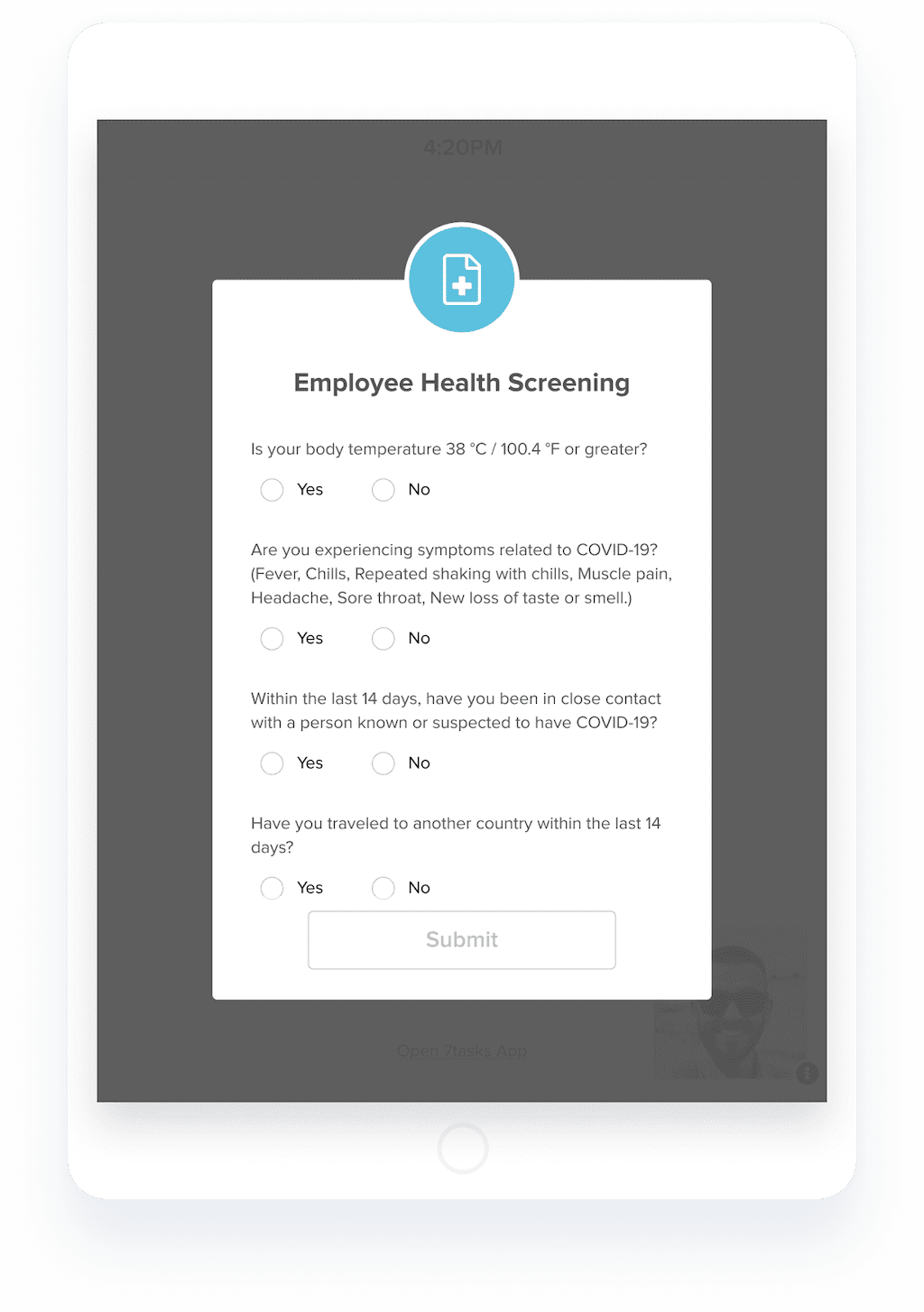 employee health check feature