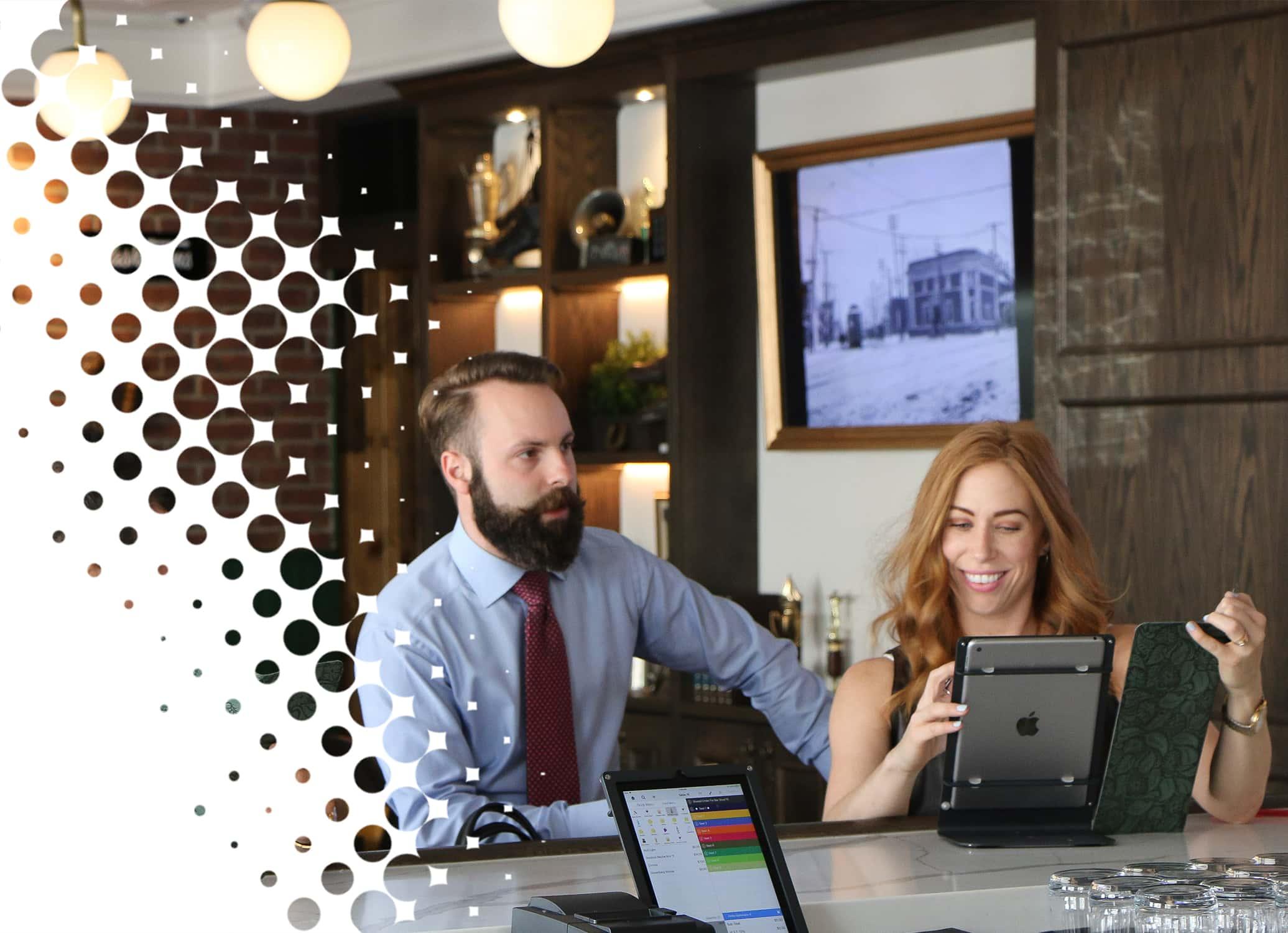 Restaurant employees at work