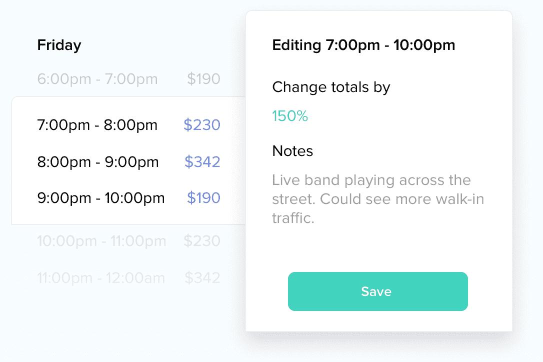 event adjustments