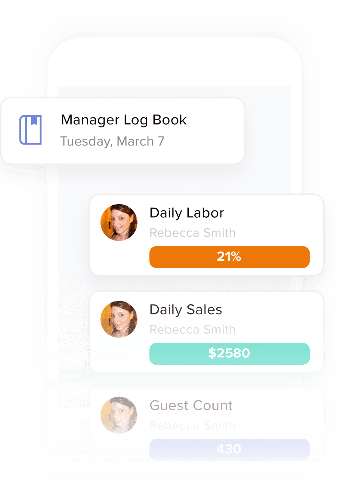 manager logbook mobile app illustration