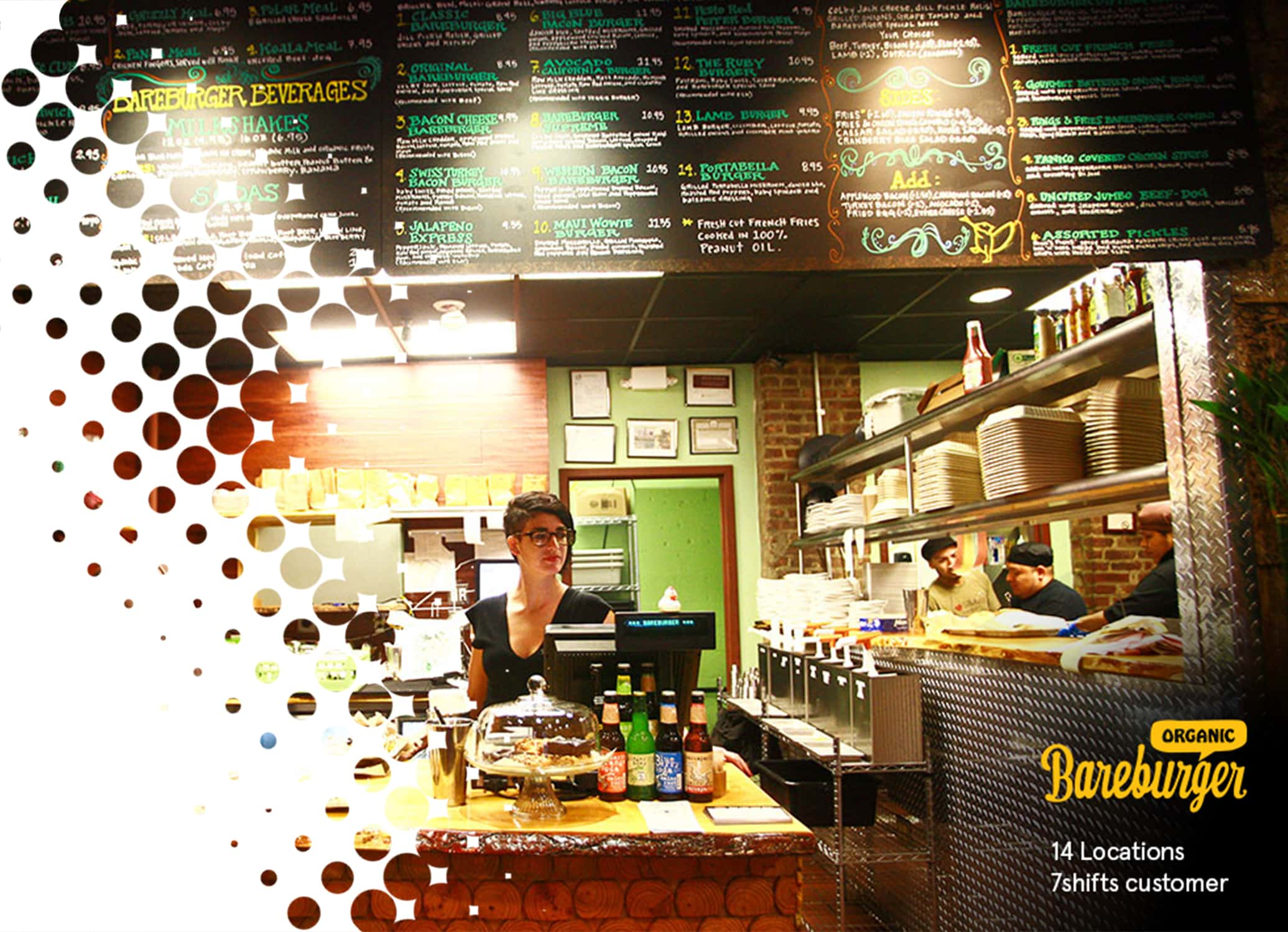 Bareburger a 14 location 7shifts client restaurant image