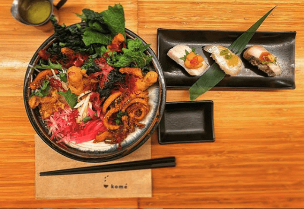 A restaurant photo of a 7shifts client: Kome Restaurant Group Cuts Labor Costs by 13% with 7shifts and Toast