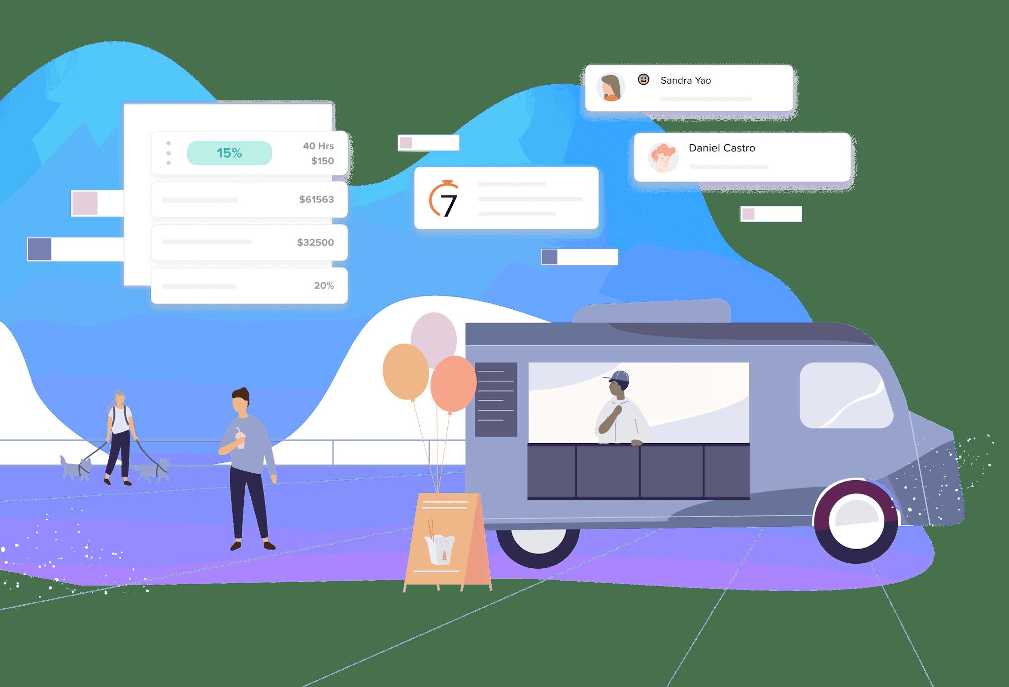 Workforce management software for restaurants illustration